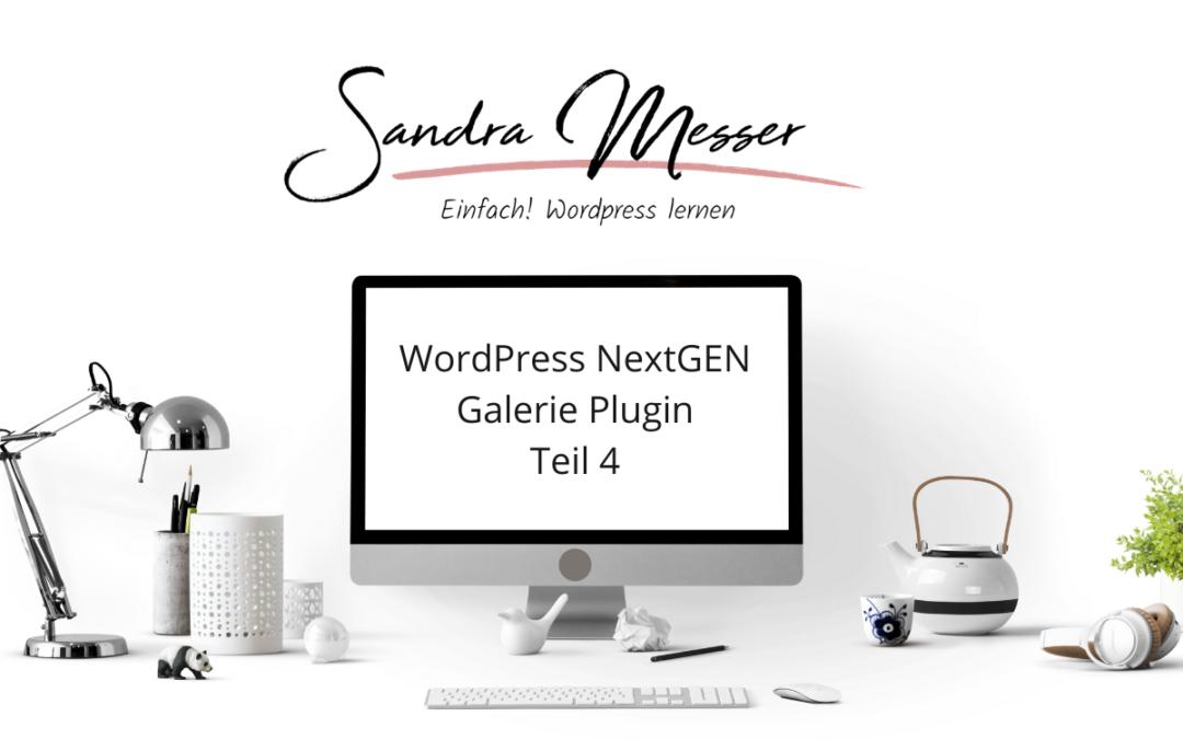 WordPress NextGEN Galerie Plugin Teil 4