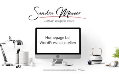 Homepage/Startseite bei WordPress einstellen