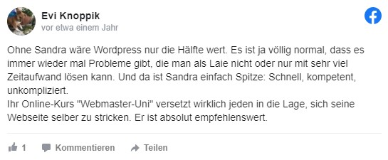 Sandra Messer Kundenbewertung 05