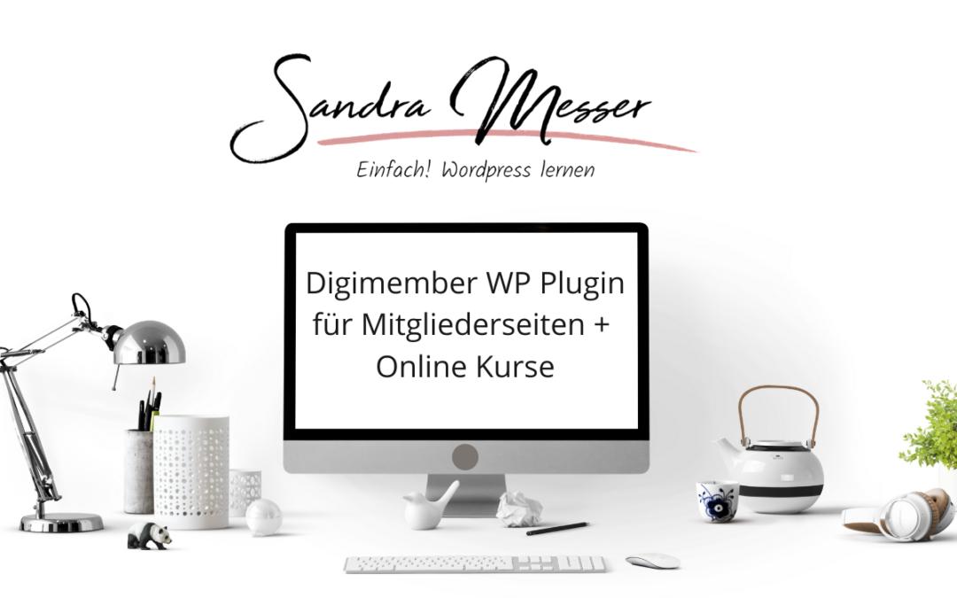 Digimember WordPress Plugin fuer Mitgliederseiten und Online Kurse