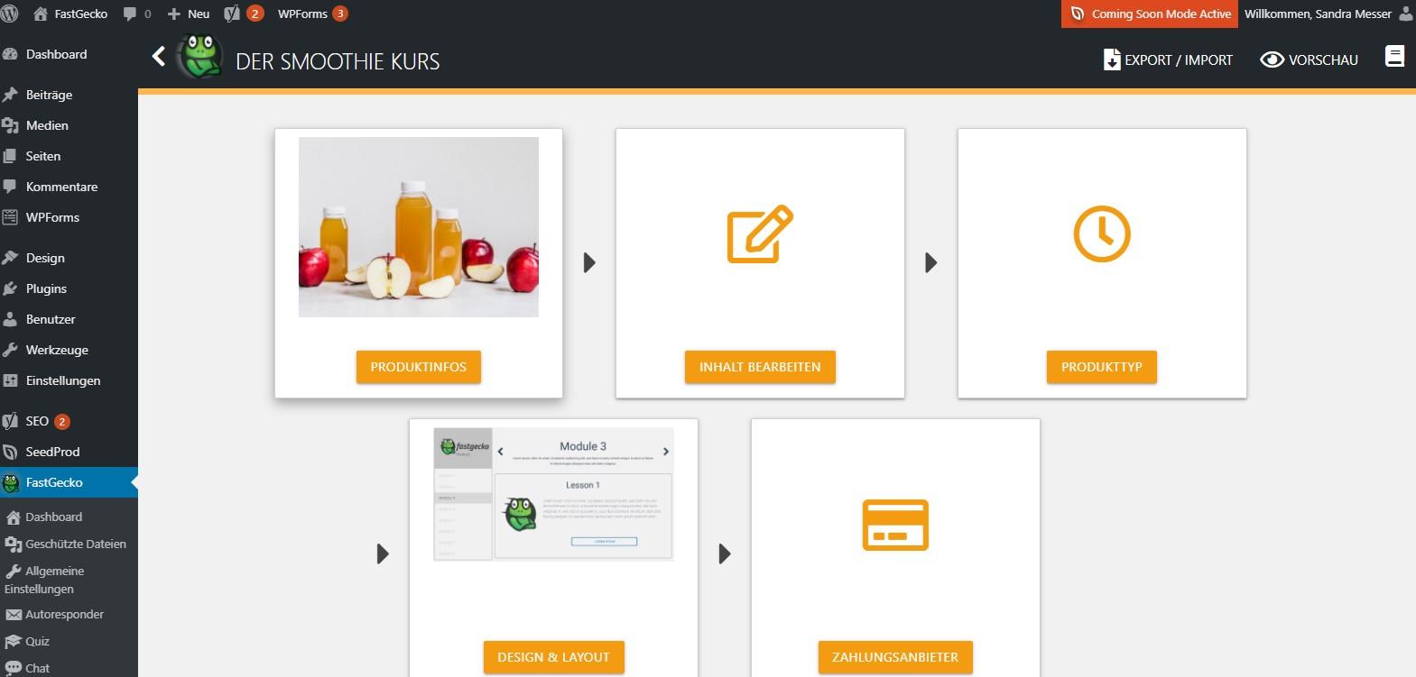 FastGecko Online Kurs erstellen Produkttyp