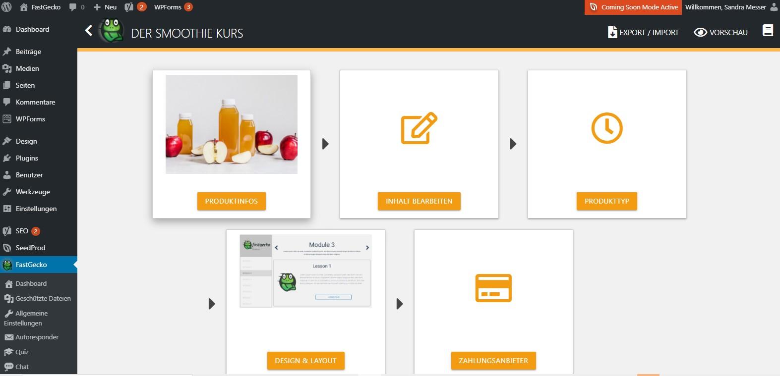 FastGecko Online Kurs Plugin WordPress