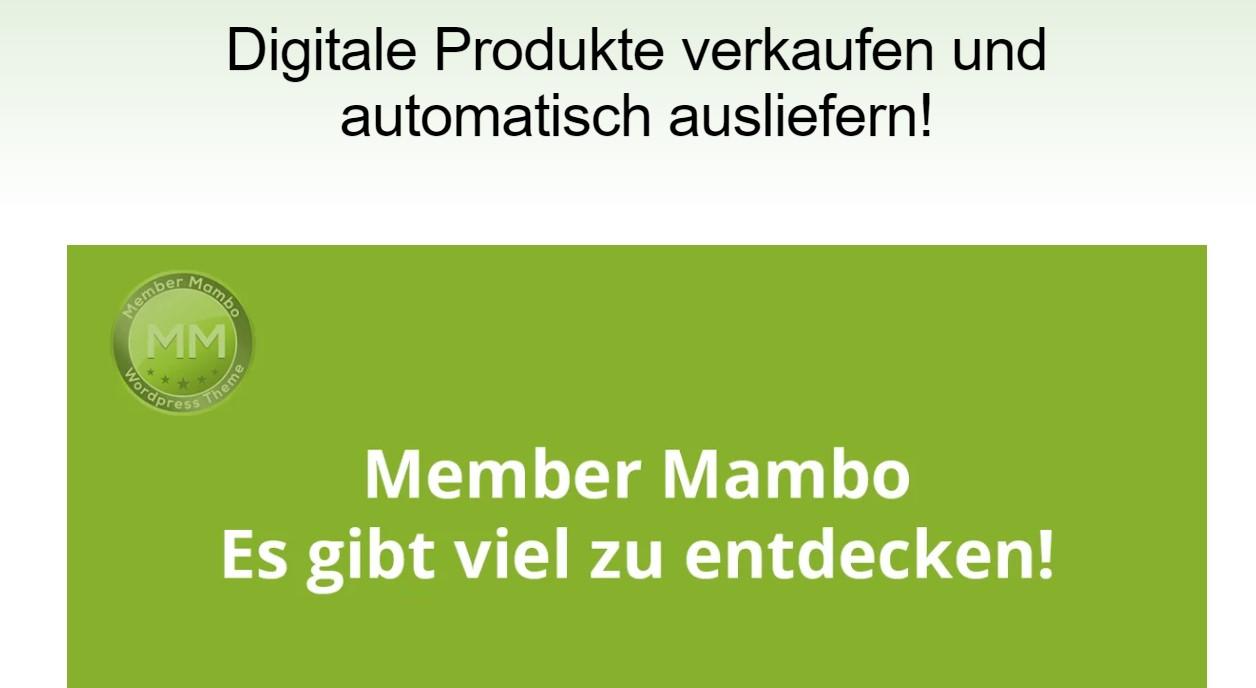 Online Kurs Member Mambo WordPress Theme