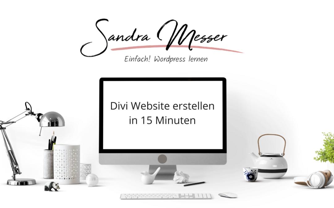 Divi Website erstellen in 15 Minuten